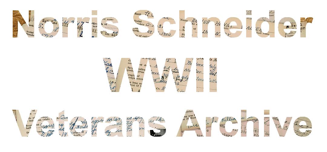 Schneider WWII Muskingum Veterans Archive