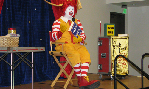 South Branch Library Summer Experience Program ~ A Visit from Ronald McDonald