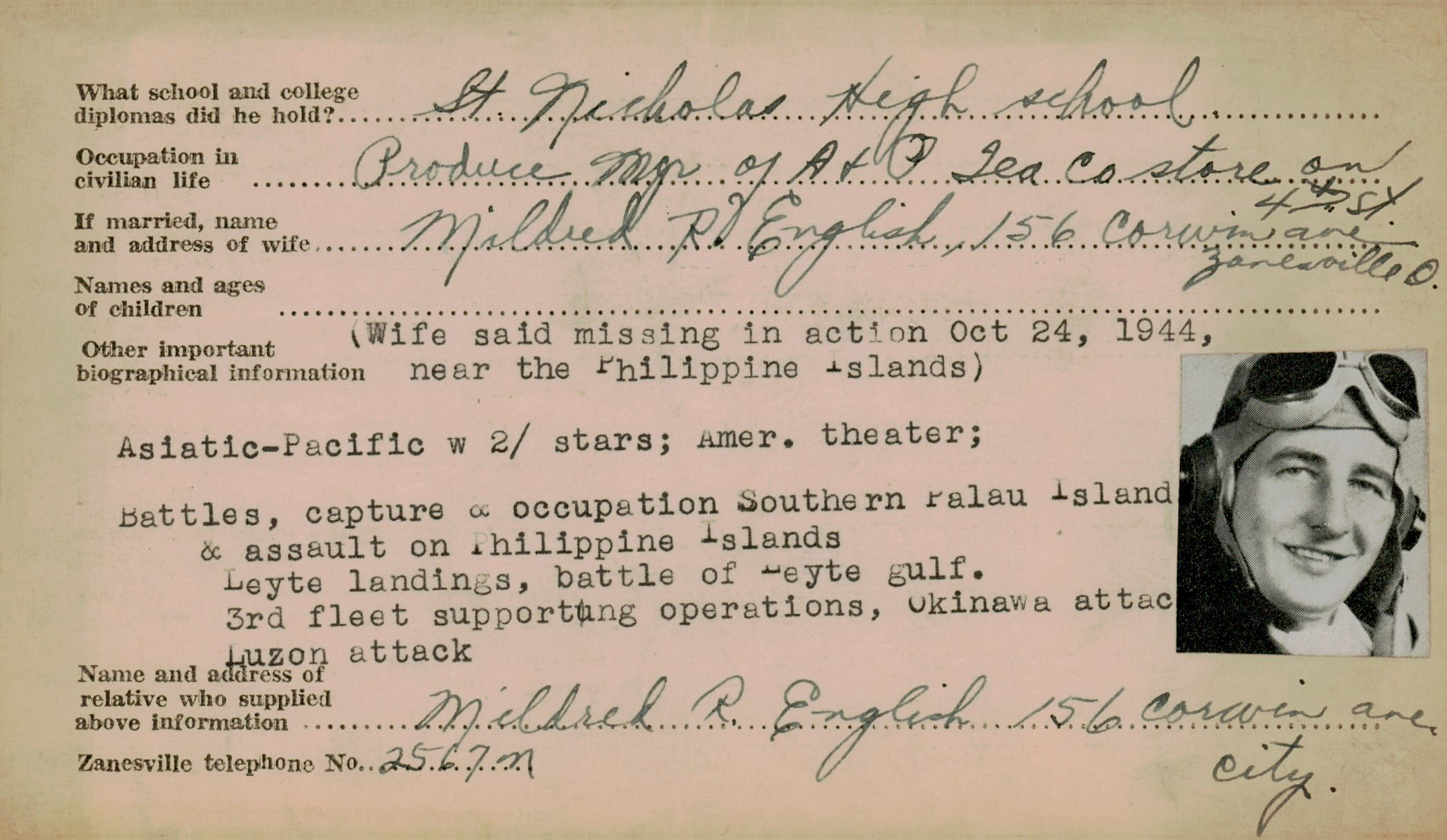 Schneider WWII Muskingum Veterans Archive – E