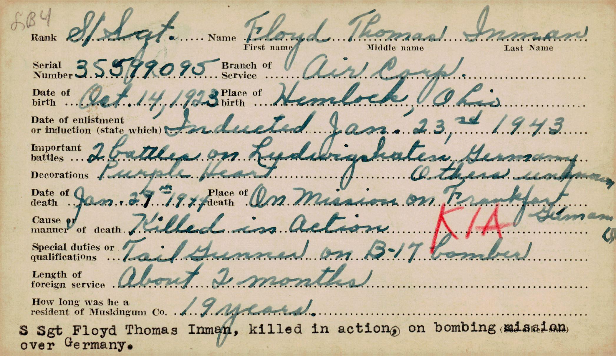 Schneider WWII Muskingum Veterans Archive – H