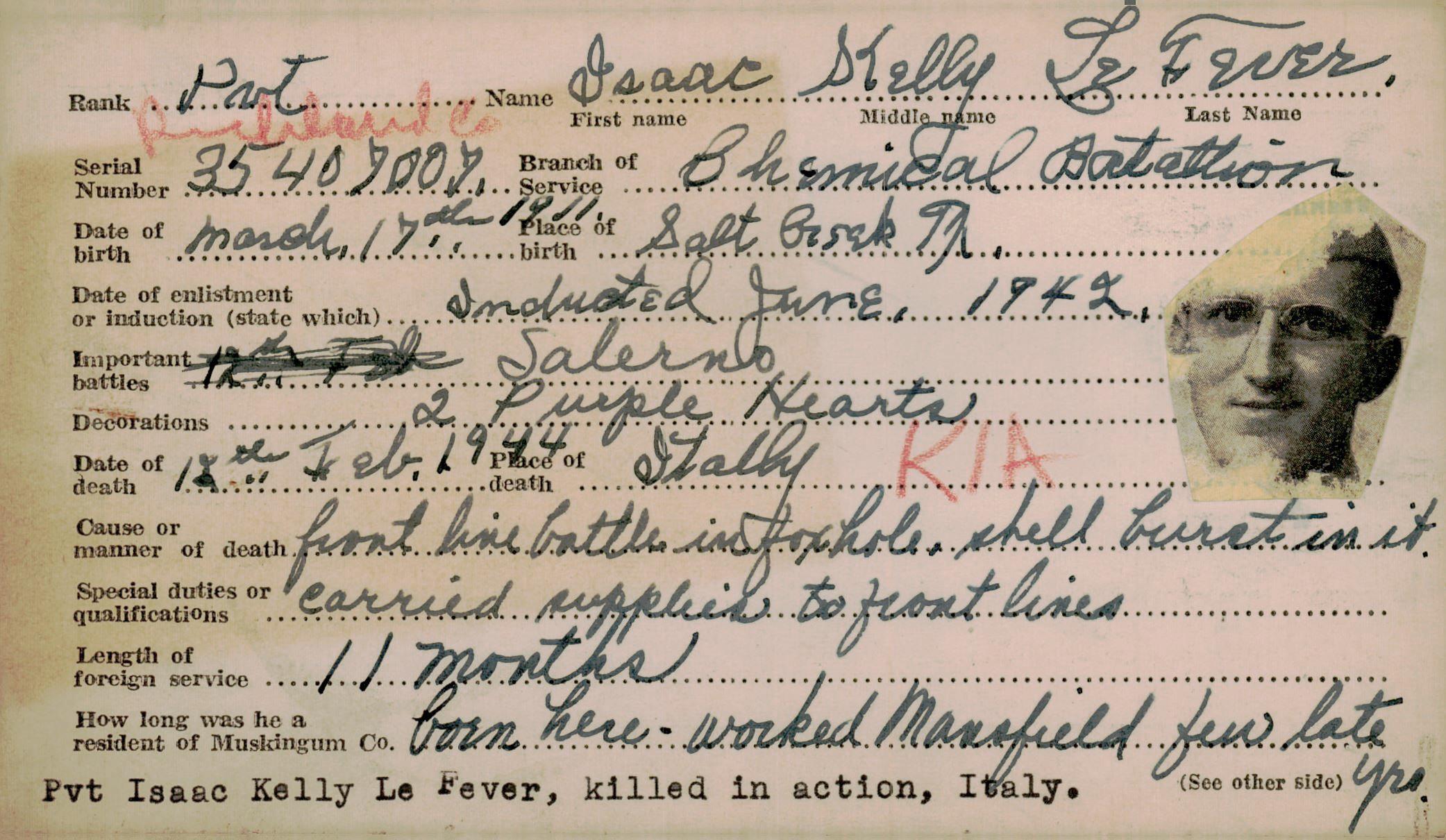Schneider WWII Muskingum Veterans Archive – L