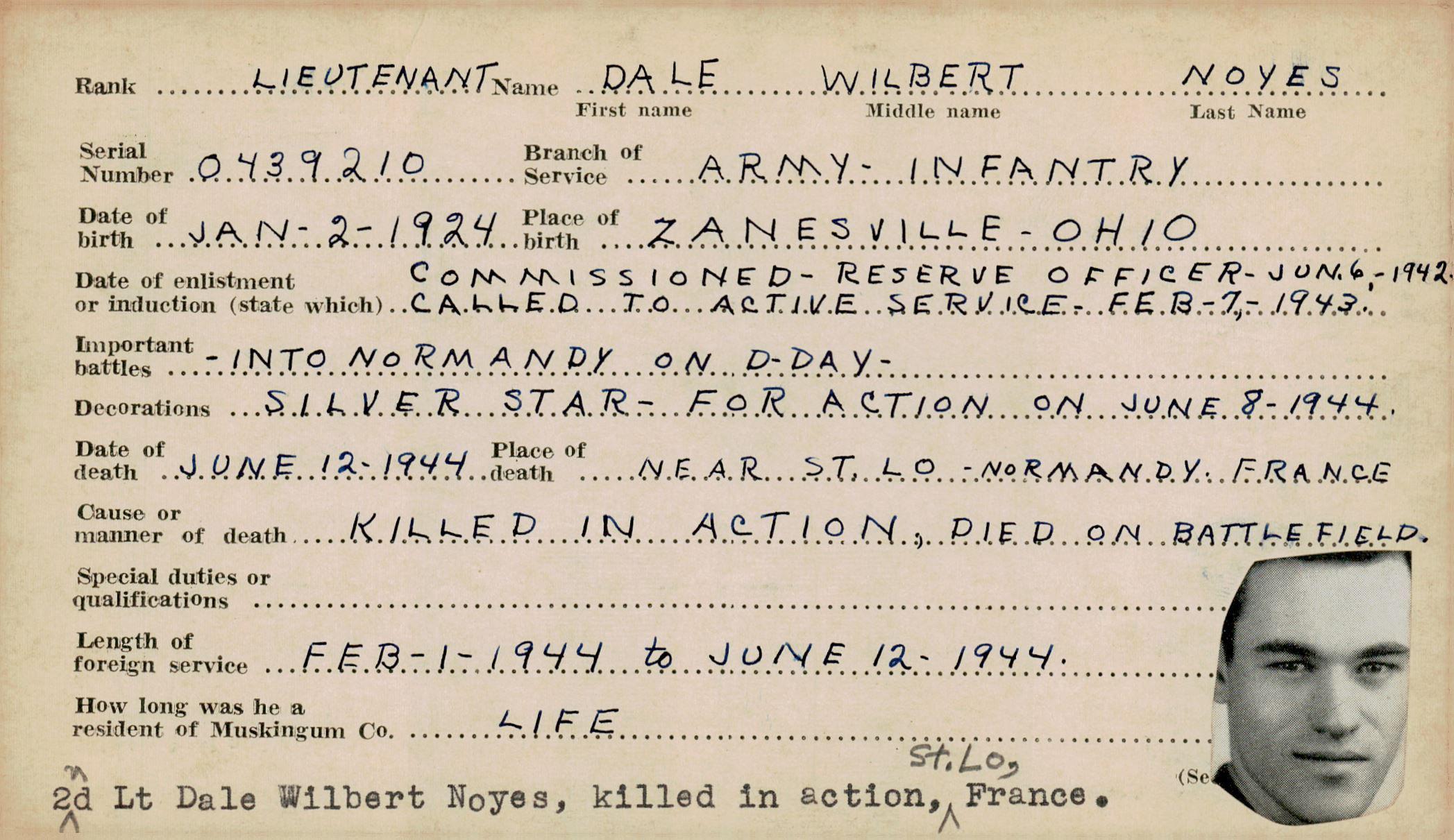 Schneider WWII Muskingum Veterans Archive – N