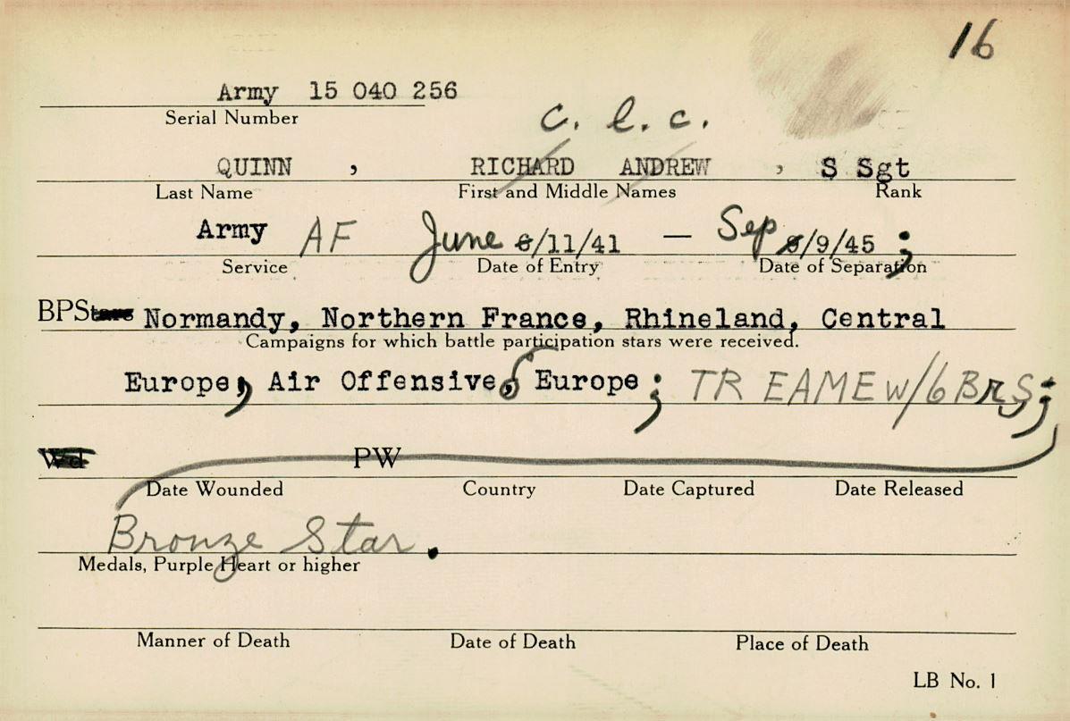 Schneider WWII Muskingum Veterans Archive – Q