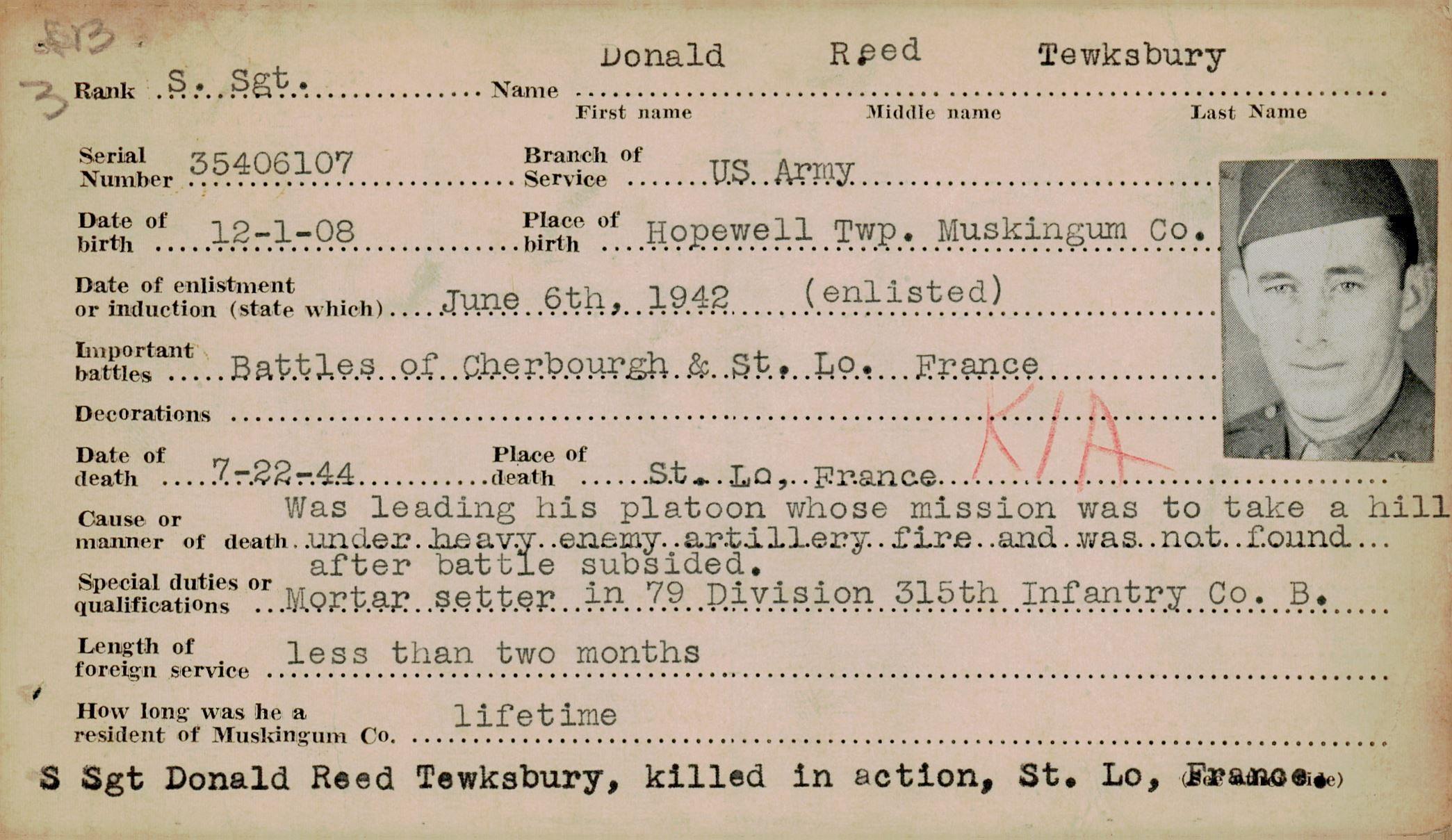 Schneider WWII Muskingum Veterans Archive – T