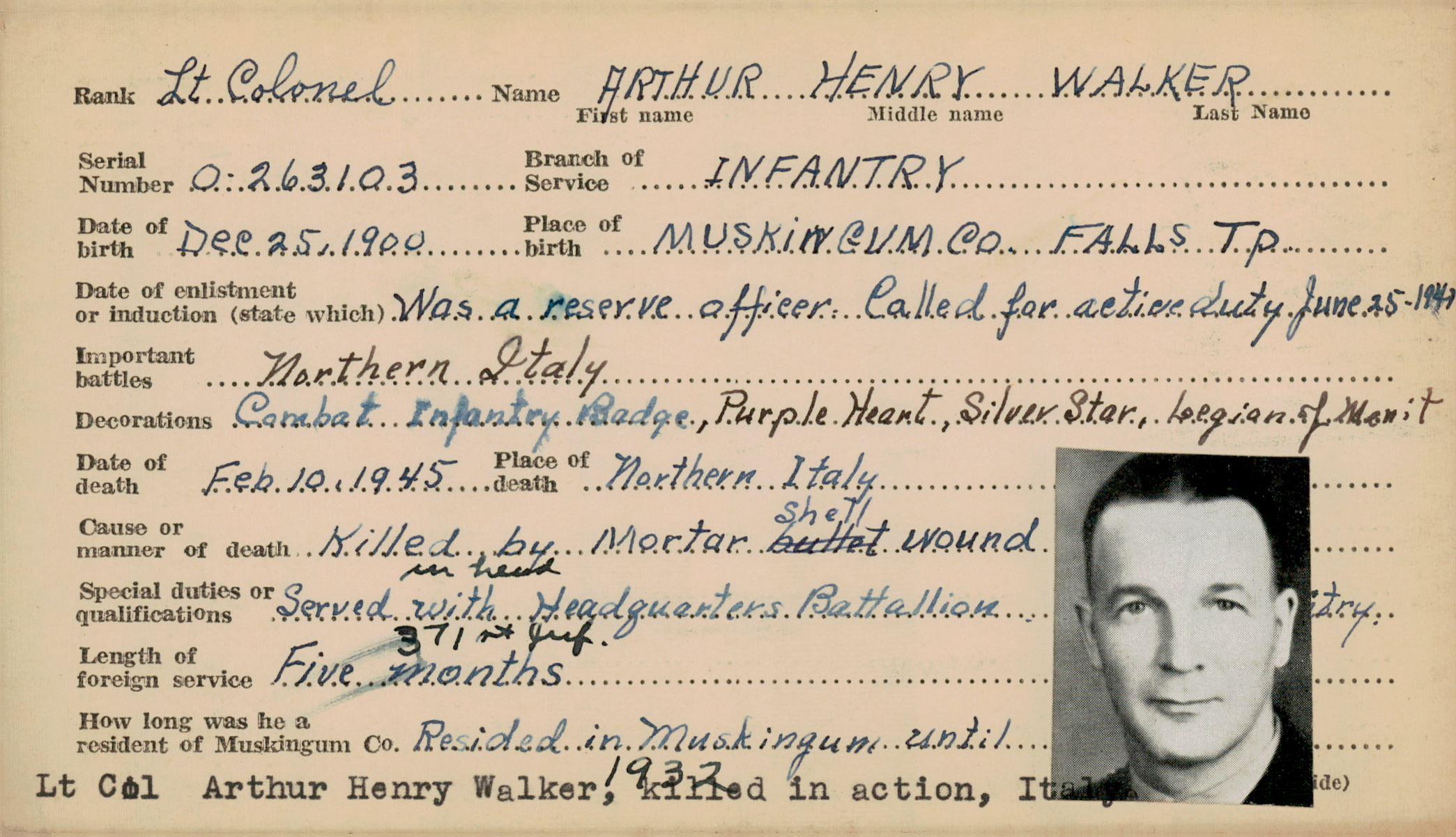 Schneider WWII Muskingum Veterans Archive – W