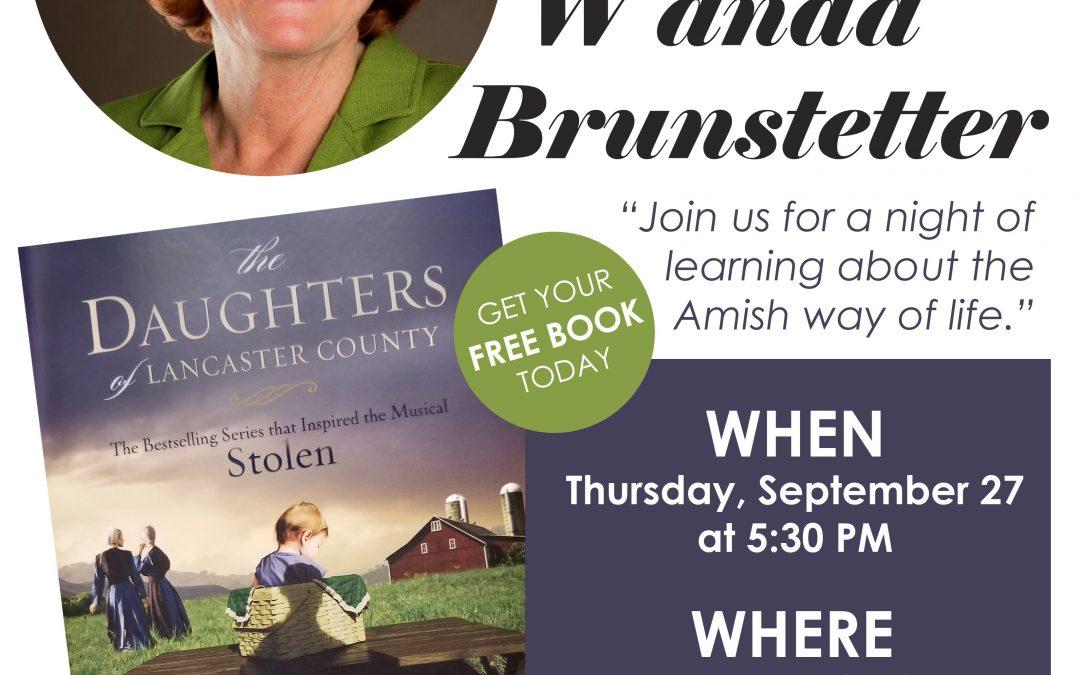 commUNITYread Featured Author Talk with Wanda Brunstetter